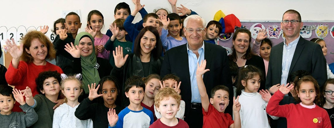 "U.S. Ambassador David Friedman toured ""Hand In Hand"" bilingual school in Jerusalem"