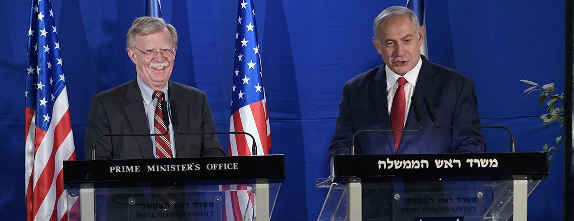 U.S. National Security Adviser and Israeli Prime Minister Binyamin Netanyahu